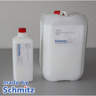 O.P.S. oxid polishing slurry <0,05 µm, agglomerate-free, pH ~9,8, SiO2, 10 litres