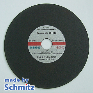 Abrasive Cut-off Wheels Ø250x1,5x32 mm for cutting materials up to 65 HRC