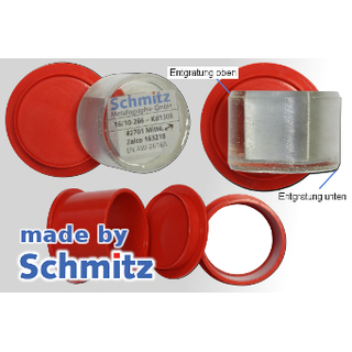 Two part mounting cup Ø50 mm with chamfer, 10 pcs.